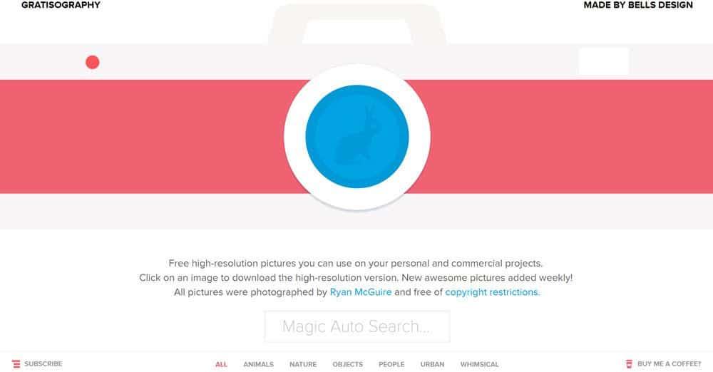 gratisography screen shot